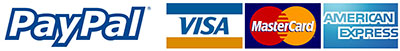 We accept credit cards as well as paypal