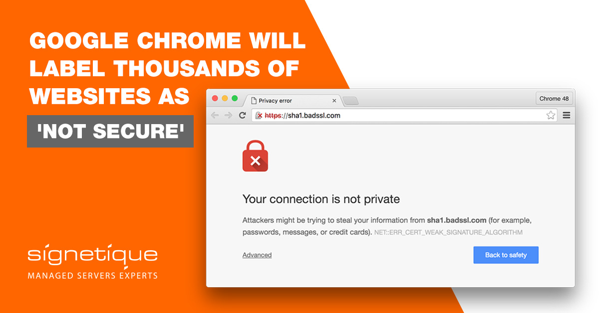 Google warned webmasters that Chrome would mark HTTP pages as 'NOT SECURE'